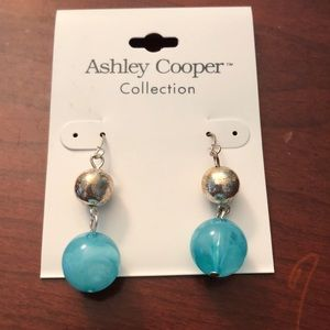 Ashley Cooper blue earrings. NWT